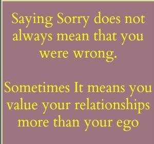 Sorry, I am sorry, forgiveness,